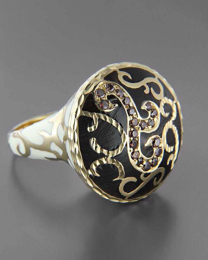 Δαχτυλίδι χρυσό Κ14 με Όνυχα & Τοπάζι   γυναικα δαχτυλίδια δαχτυλίδια ημιπολύτιμοι λίθοι