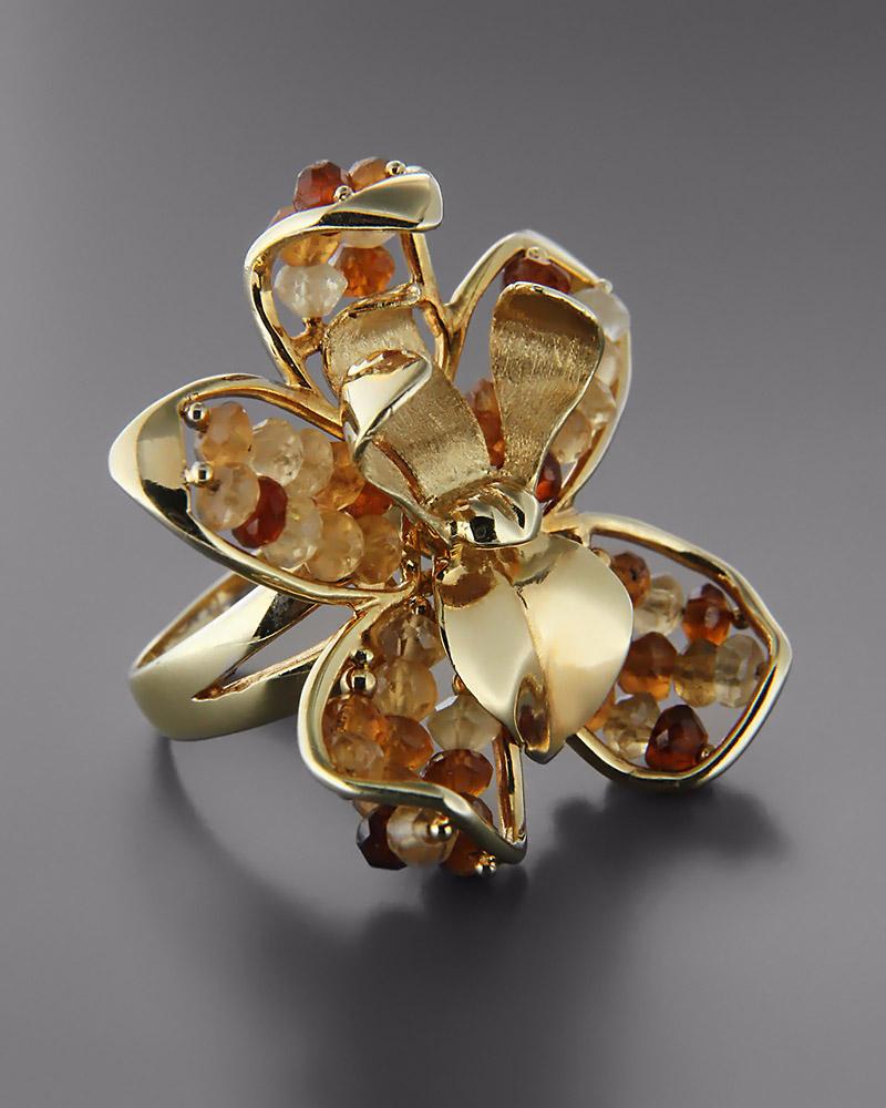 Χειροποίητο δαχτυλίδι χρυσό Κ14 με Τοπάζι   κοσμηματα δαχτυλίδια δαχτυλίδια ημιπολύτιμοι λίθοι