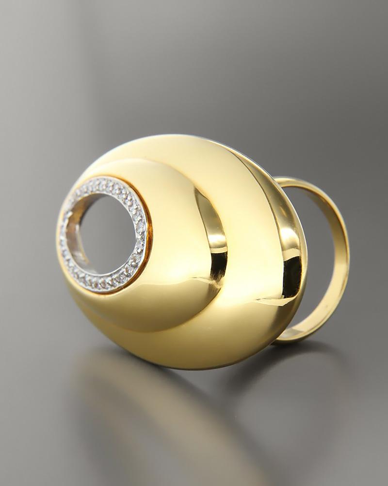Δαχτυλίδι χρυσό Κ14 με Ζιργκόν   γυναικα δαχτυλίδια δαχτυλίδια χρυσά