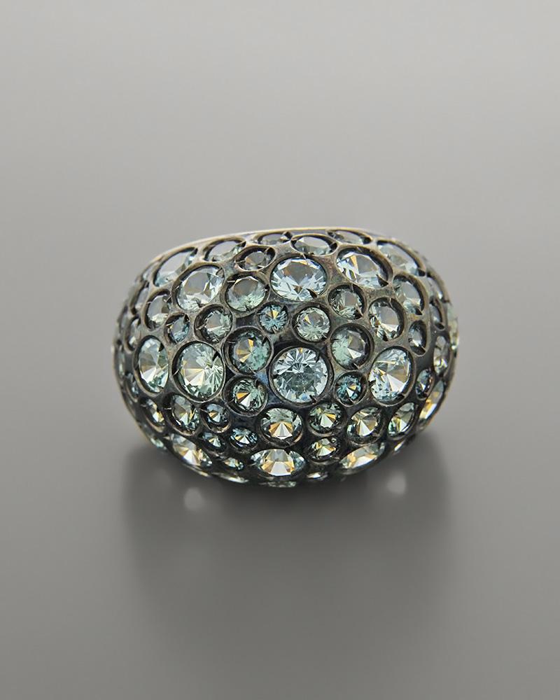 Δαχτυλίδι χρυσό Κ18 με Ζιργκόν