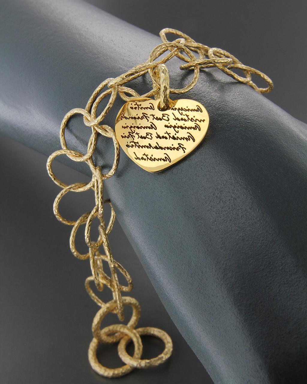 Βραχιόλι από ατσάλι   γυναικα κοσμήματα με καρδιές