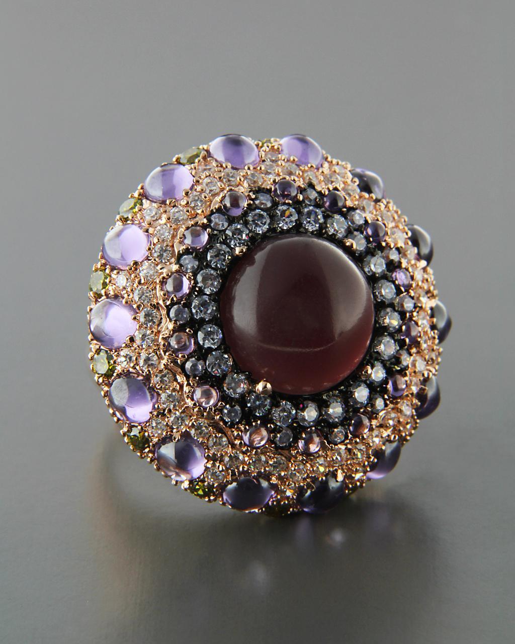 Δαχτυλίδι από ορείχαλκο με Ορυκτή πέτρα & Ζιργκόν   κοσμηματα δαχτυλίδια δαχτυλίδια fashion