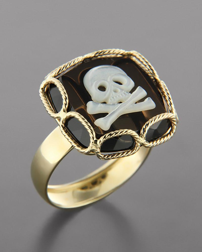 Δαχτυλίδι χρυσό Κ14 με Quartz   γυναικα δαχτυλίδια δαχτυλίδια ημιπολύτιμοι λίθοι