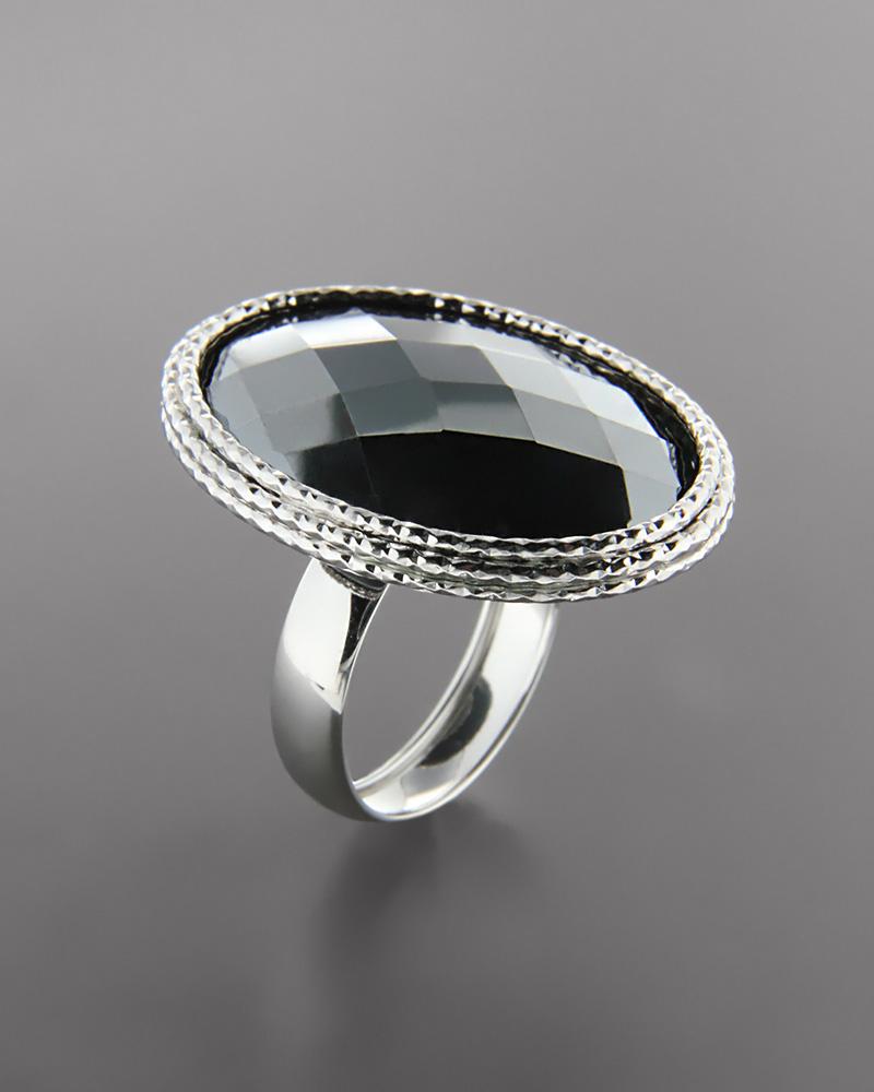 Δαχτυλίδι λευκόχρυσο Κ14 με Αιματίτη   γυναικα δαχτυλίδια δαχτυλίδια ημιπολύτιμοι λίθοι