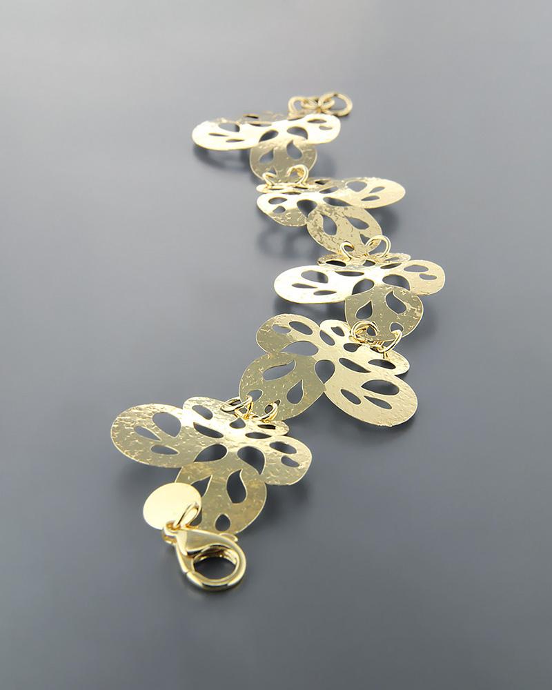 Βραχιόλι από επιχρυσωμένο ασήμι 925   γυναικα βραχιόλια βραχιόλια ασημένια