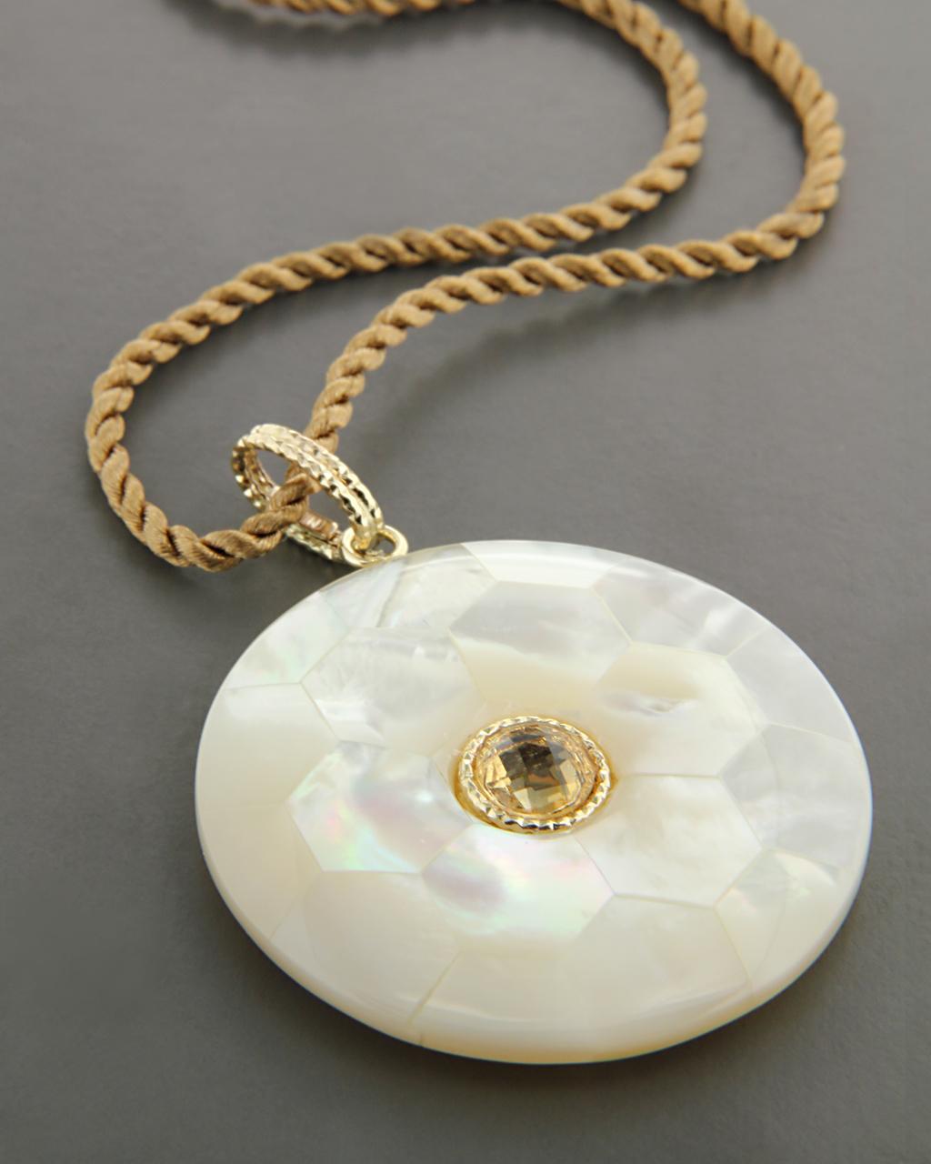 Κρεμαστό χρυσό Κ14 με Φίλντισι & Τοπάζι   γαμοσ δώρα κουμπάρου κουμπαρα