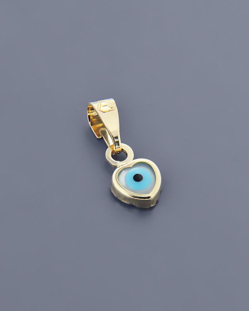 Ματάκι από χρυσό Κ9 με Φίλντισι   κοσμηματα κοσμήματα με καρδιές
