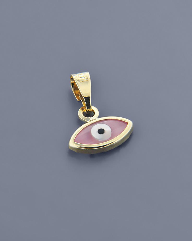 Ματάκι χρυσό Κ9 με Μάτι της γάτας   γυναικα κοσμήματα με ματάκι