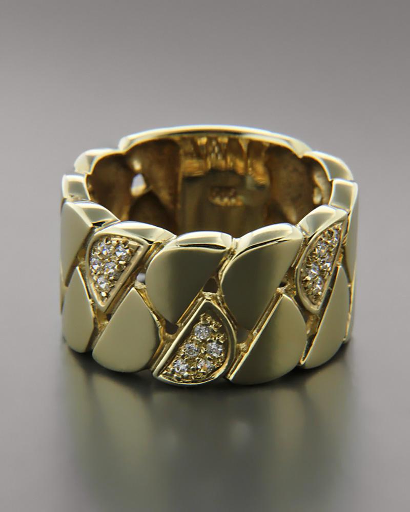 Δαχτυλίδι βέρα χρυσό Κ14 με Ζιργκόν   γυναικα δαχτυλίδια δαχτυλίδια χρυσά