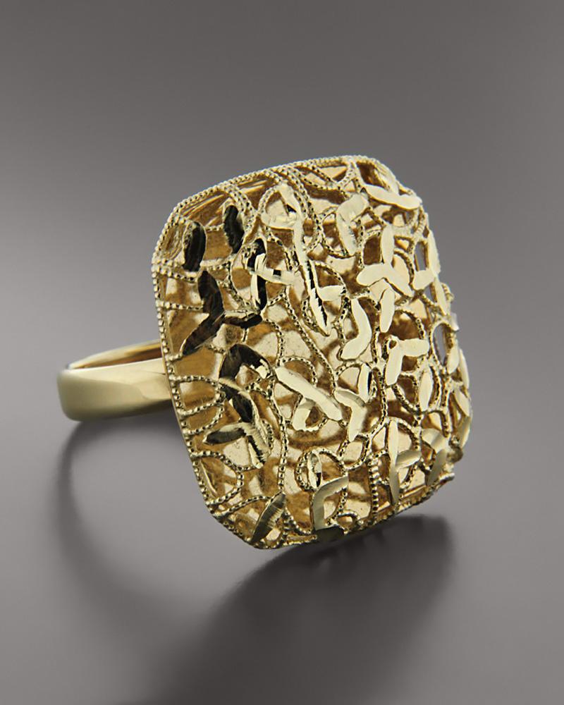 Δαχτυλίδι χρυσό & λευκόχρυσο Κ14   γυναικα δαχτυλίδια δαχτυλίδια χρυσά