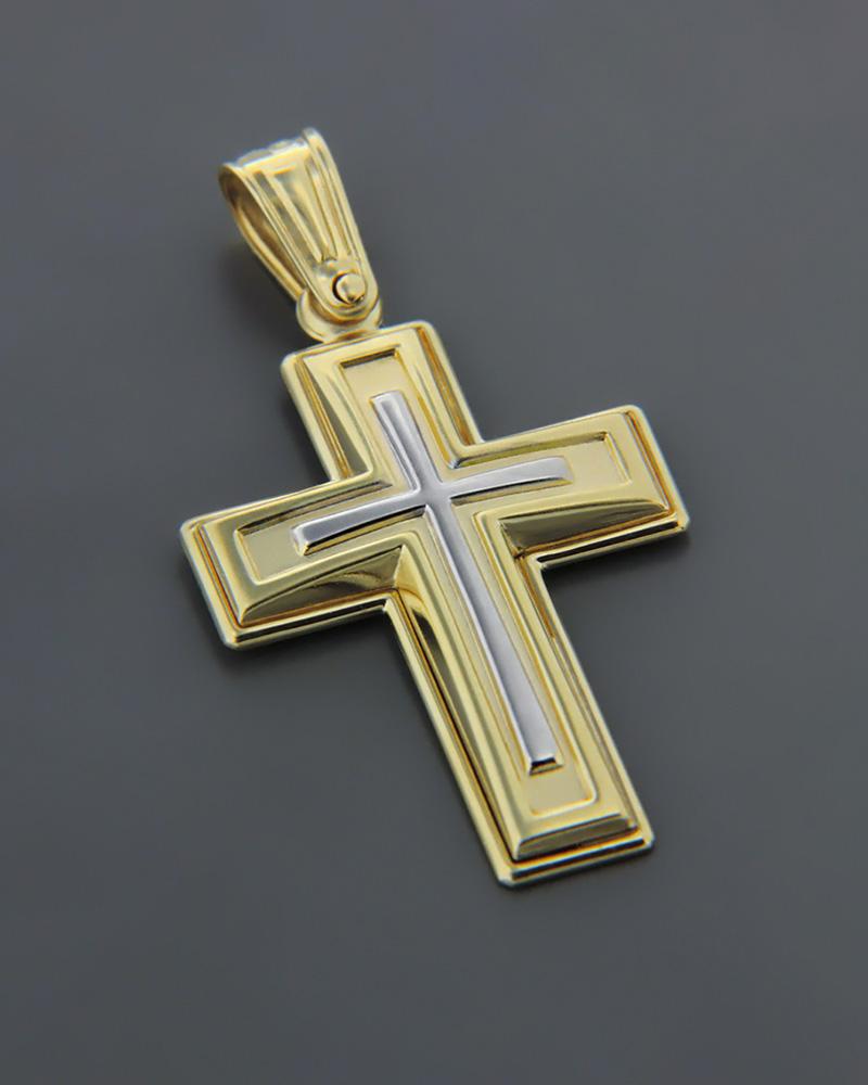 Σταυρός χρυσός & λευκόχρυσος Κ9   ανδρασ σταυροί ανδρικοί