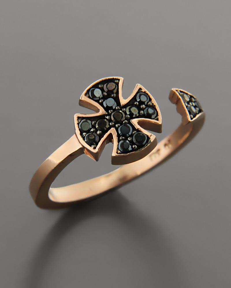 Δαχτυλίδι chevalier ροζ χρυσό Κ9   γυναικα δαχτυλίδια δαχτυλίδια ροζ χρυσό