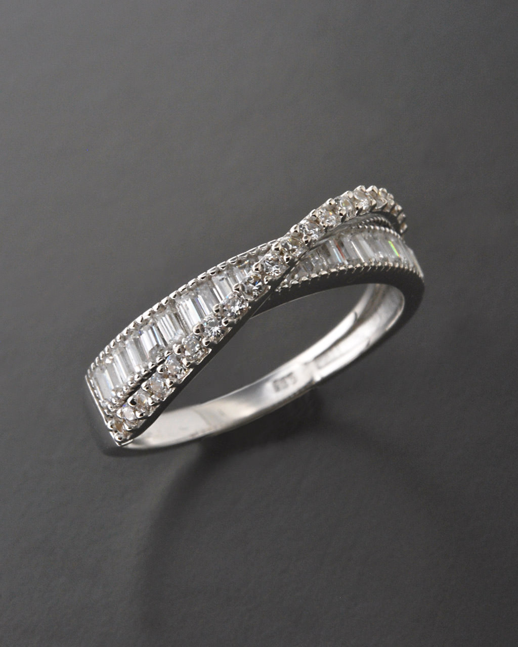 Δαχτυλίδι λευκόχρυσο Κ14 με Ζιργκόν   κοσμηματα δαχτυλίδια δαχτυλίδια σειρέ