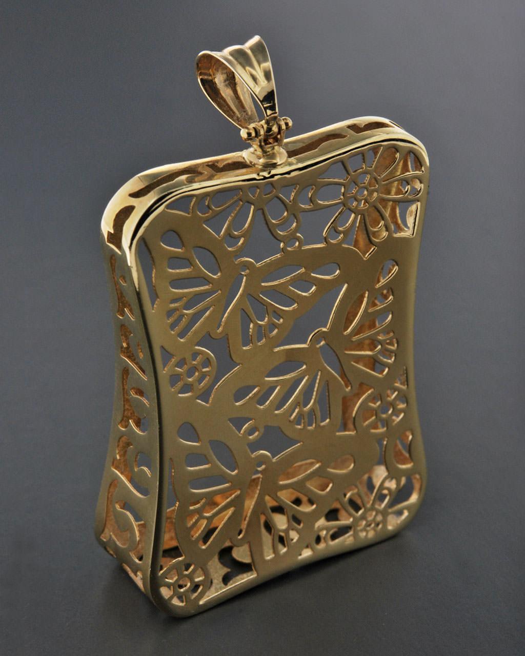 Κρεμαστό χρυσό Κ14   γαμοσ δώρα κουμπάρου κουμπαρα