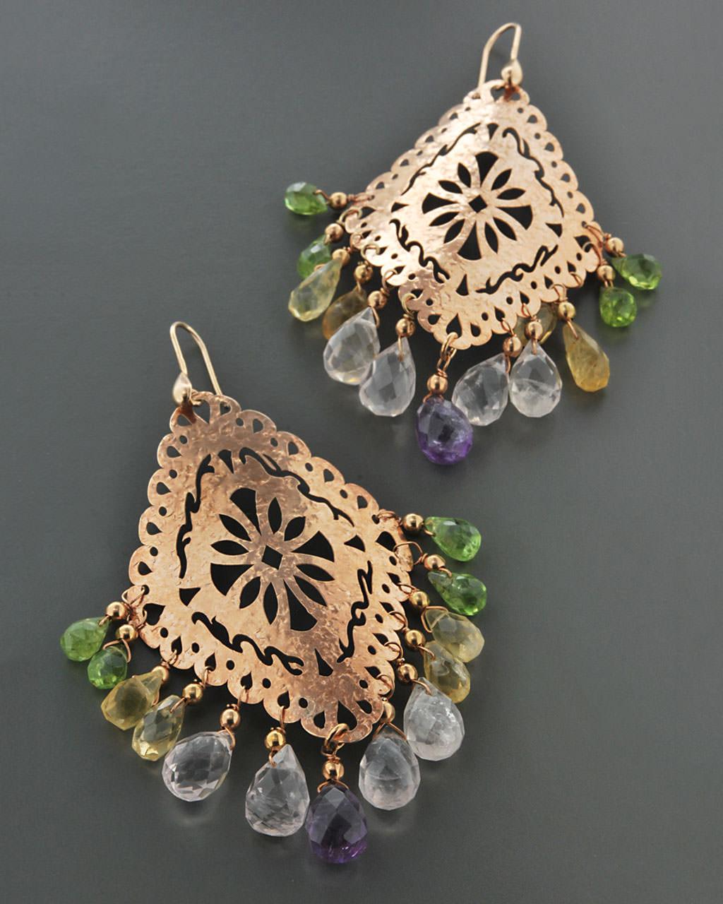 Σκουλαρίκια ασημένια 925 με Quartz   γυναικα σκουλαρίκια σκουλαρίκια ασημένια