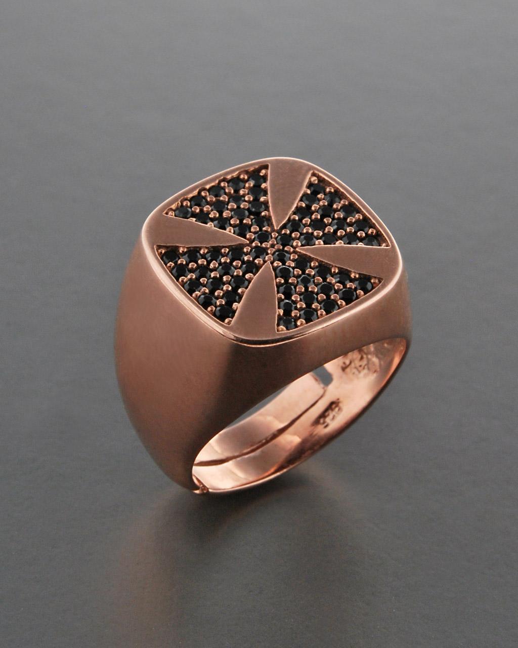 Δαχτυλίδι σεβαλιέ ασημένιο 925 με Zιργκόν   κοσμηματα δαχτυλίδια δαχτυλίδια chevalier