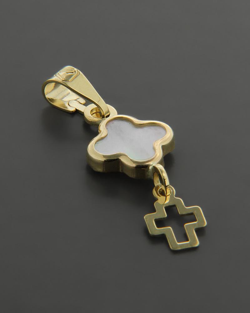 Φυλαχτό χρυσό Κ9 με Φίλντισι   γυναικα κρεμαστά κολιέ κρεμαστά κολιέ χρυσά