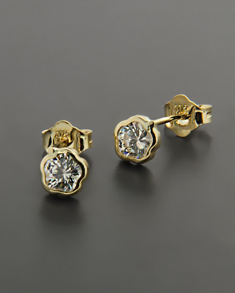 Σκουλαρίκια από χρυσό Κ9 με Swarovski   νεεσ αφιξεισ κοσμήματα γυναικεία