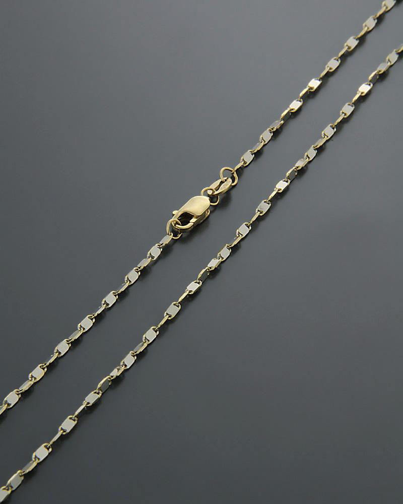 Αλυσίδα λαιμού χρυσή & λευκόχρυση Κ14 50cm   παιδι αλυσίδες λαιμού αλυσίδες δίχρωμες