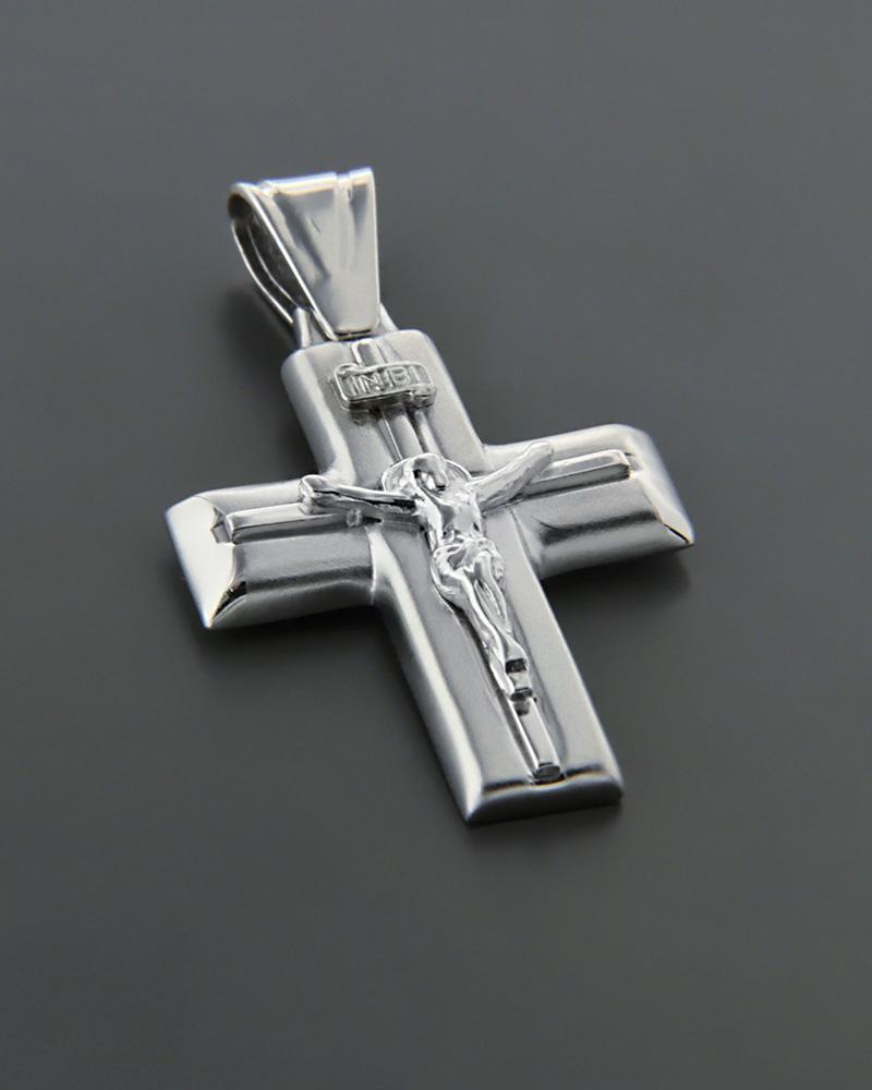 Λευκόχρυσος σταυρός Κ14   ανδρασ σταυροί ανδρικοί