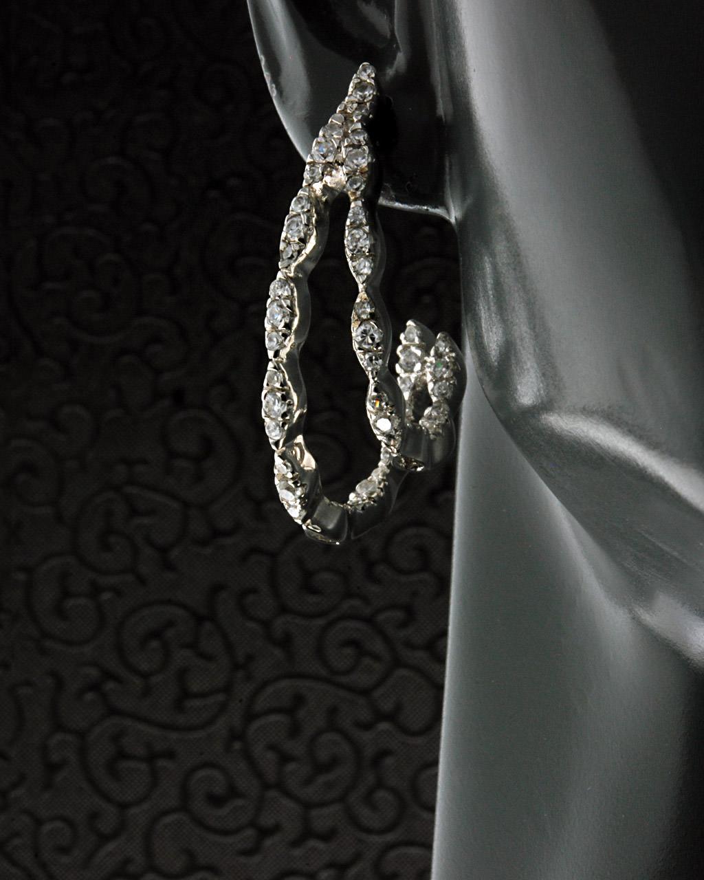 Σκουλαρίκια Κρίκοι ασημένια 925 με Ζιργκόν   γυναικα σκουλαρίκια σκουλαρίκια κρίκοι