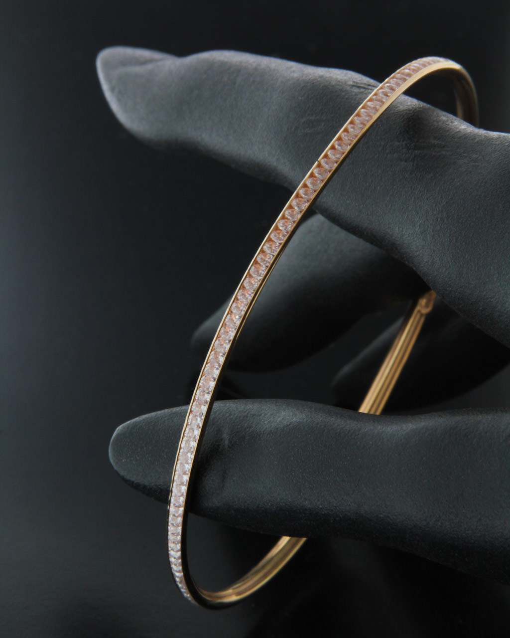 Βραχιόλι ροζ χρυσό Κ14 με Ζιργκόν   γαμοσ νυφικό κόσμημα
