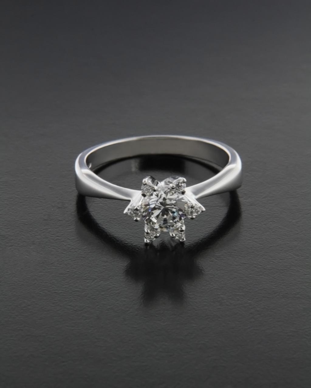 Μονόπετρο δαχτυλίδι ασημένιο 925 με Ζιργκόν   γαμοσ μονόπετρα μονοπετρα με ζιργκόν