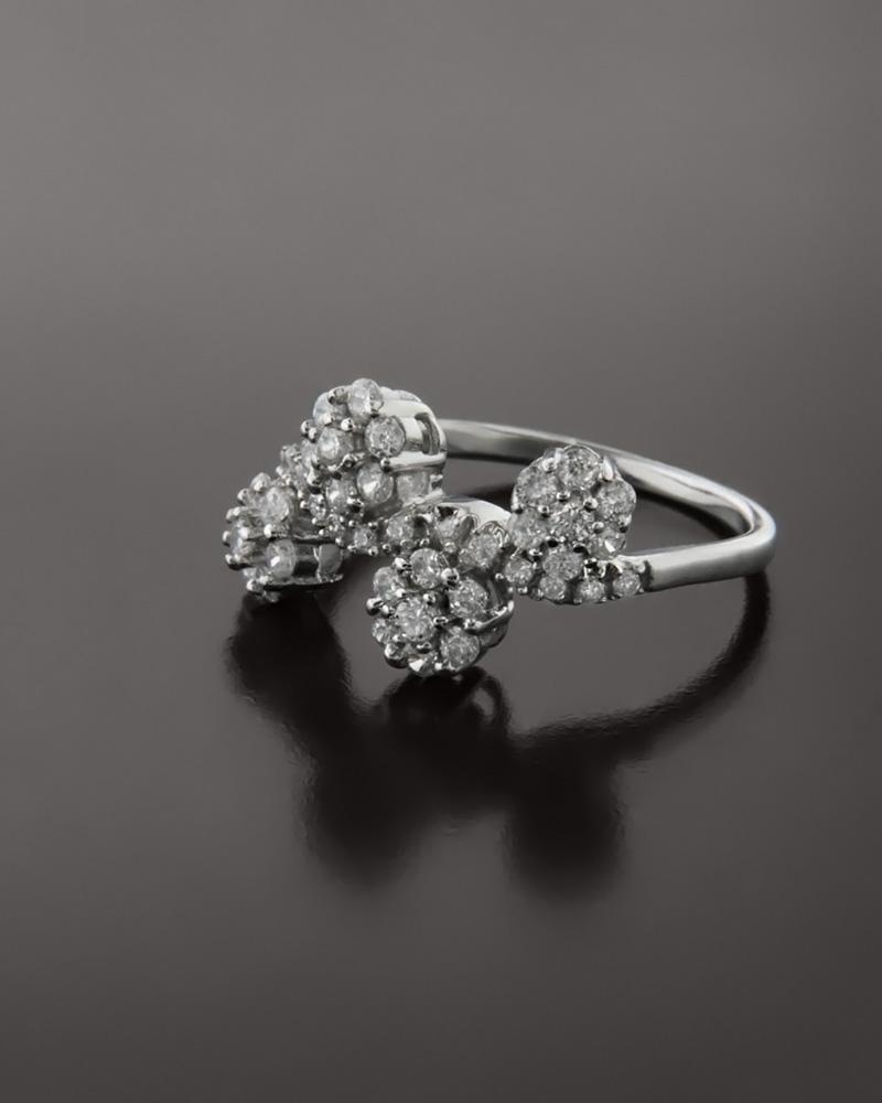 Δαχτυλίδι λευκόχρυσο Κ18 με Ζιργκόν   γυναικα δαχτυλίδια δαχτυλίδια λευκόχρυσα
