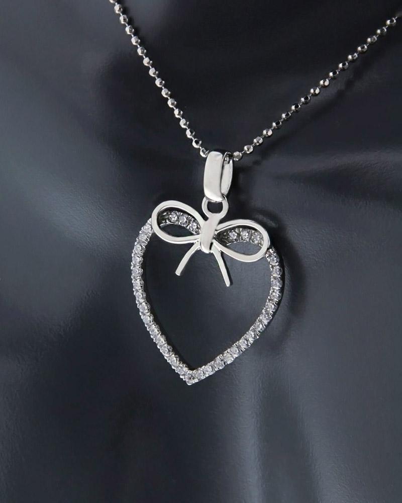 Κρεμαστό καρδιά ασημένιο 925   κοσμηματα κρεμαστά κολιέ κρεμαστά κολιέ καρδιές