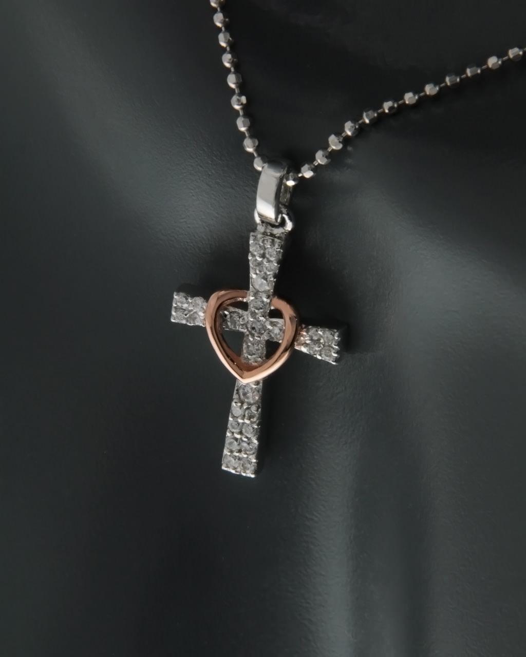Σταυρός ασημένιος 925 με Ζιργκόν   γυναικα σταυροί σταυροί ασημένιοι