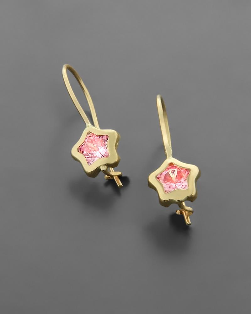 Παιδικά σκουλαρίκια χρυσά Κ9 με Ζιργκόν   νεεσ αφιξεισ κοσμήματα παιδικά
