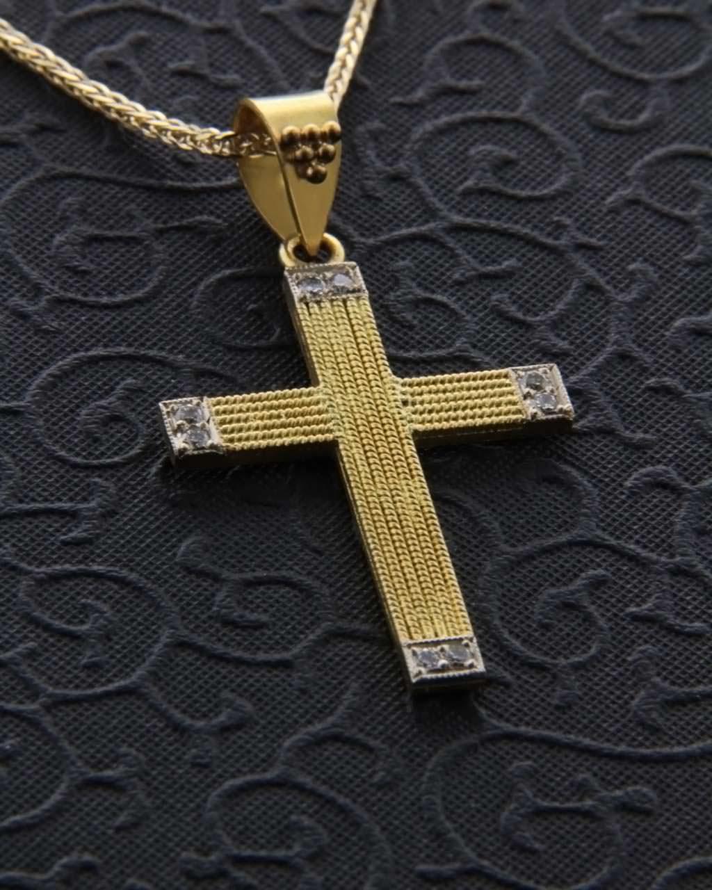 Βυζαντινός σταυρός χρυσός Κ22 με Διαμάντια   γυναικα σταυροί γυναικείοι σταυροί με διαμάντια