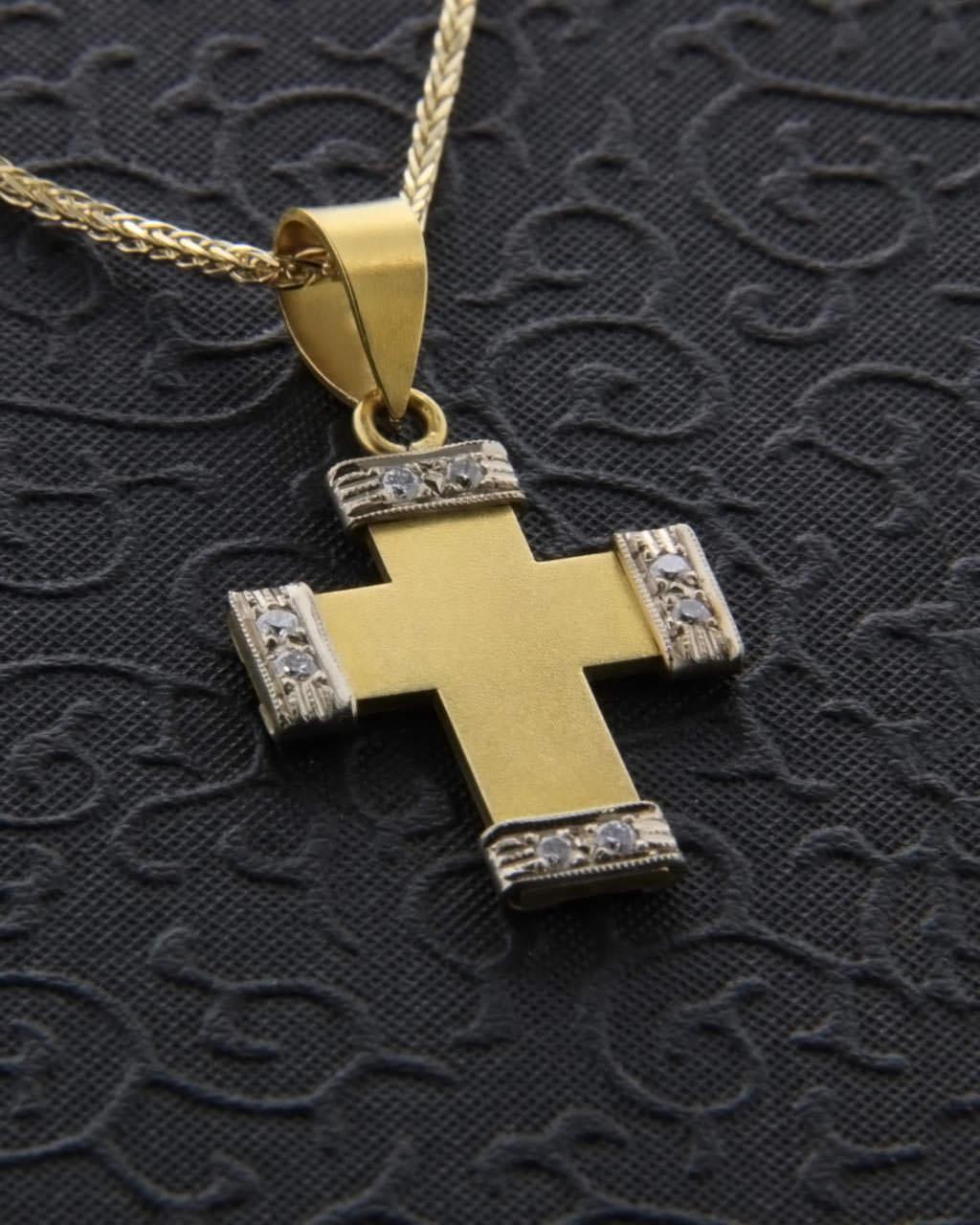 Σταυρός χρυσός χειροποίητος Κ22 με Διαμάντια   κοσμηματα σταυροί σταυροί με διαμάντια
