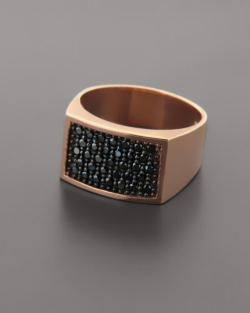 Chevalier δαχτυλίδι ροζ χρυσό Κ9 με Zιργκόν   κοσμηματα δαχτυλίδια δαχτυλίδια chevalier