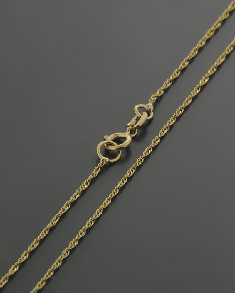 Αλυσίδα λαιμού χρυσή Κ14 SIG/020K   κοσμηματα αλυσίδες λαιμού αλυσίδες χρυσές
