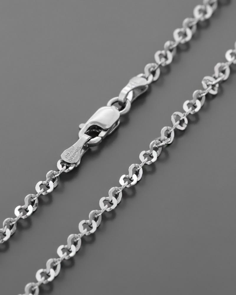 Αλυσίδα λαιμού λευκόχρυση Κ14 50cm   παιδι αλυσίδες λαιμού αλυσίδες λευκόχρυσες