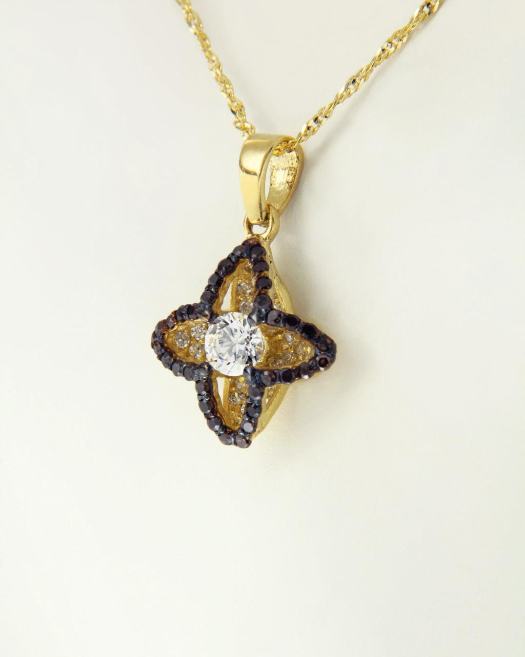 Σταυρουδάκι χρυσό Κ14 με Ζιργκόν   κοσμηματα σταυροί σταυροί fashion