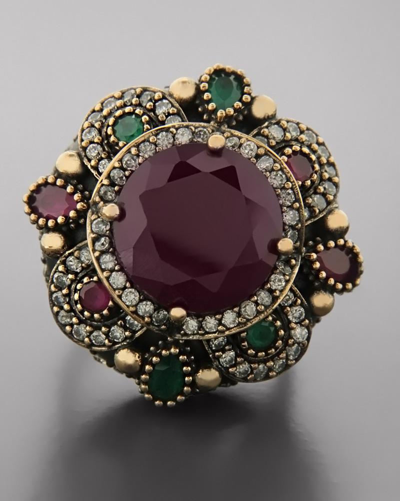 Δαχτυλίδι από ασήμι 925 & ορείχαλκο με Ορυκτές πέτρες   γυναικα δαχτυλίδια δαχτυλίδια ημιπολύτιμοι λίθοι