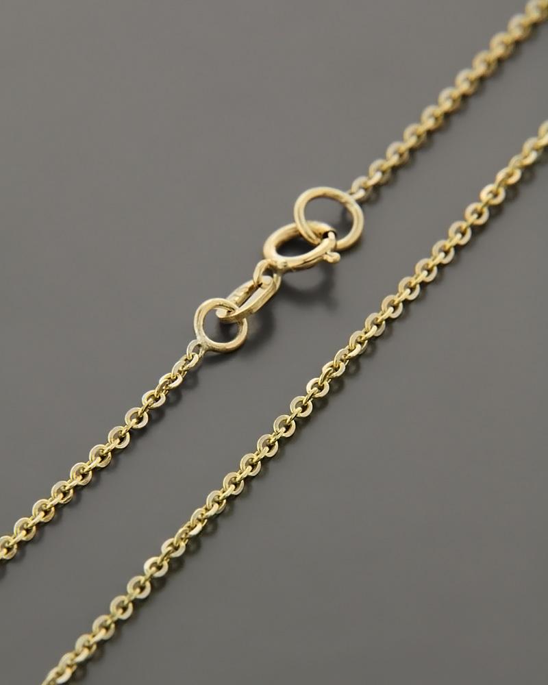 Αλυσίδα λαιμού χρυσή & λευκόχρυση Κ9 45cm   κοσμηματα αλυσίδες λαιμού αλυσίδες χρυσές