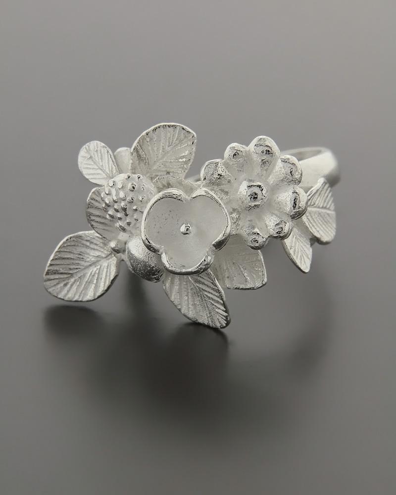 Δαχτυλίδι λουλούδι ασημένιο 925   γυναικα δαχτυλίδια δαχτυλίδια ασημένια