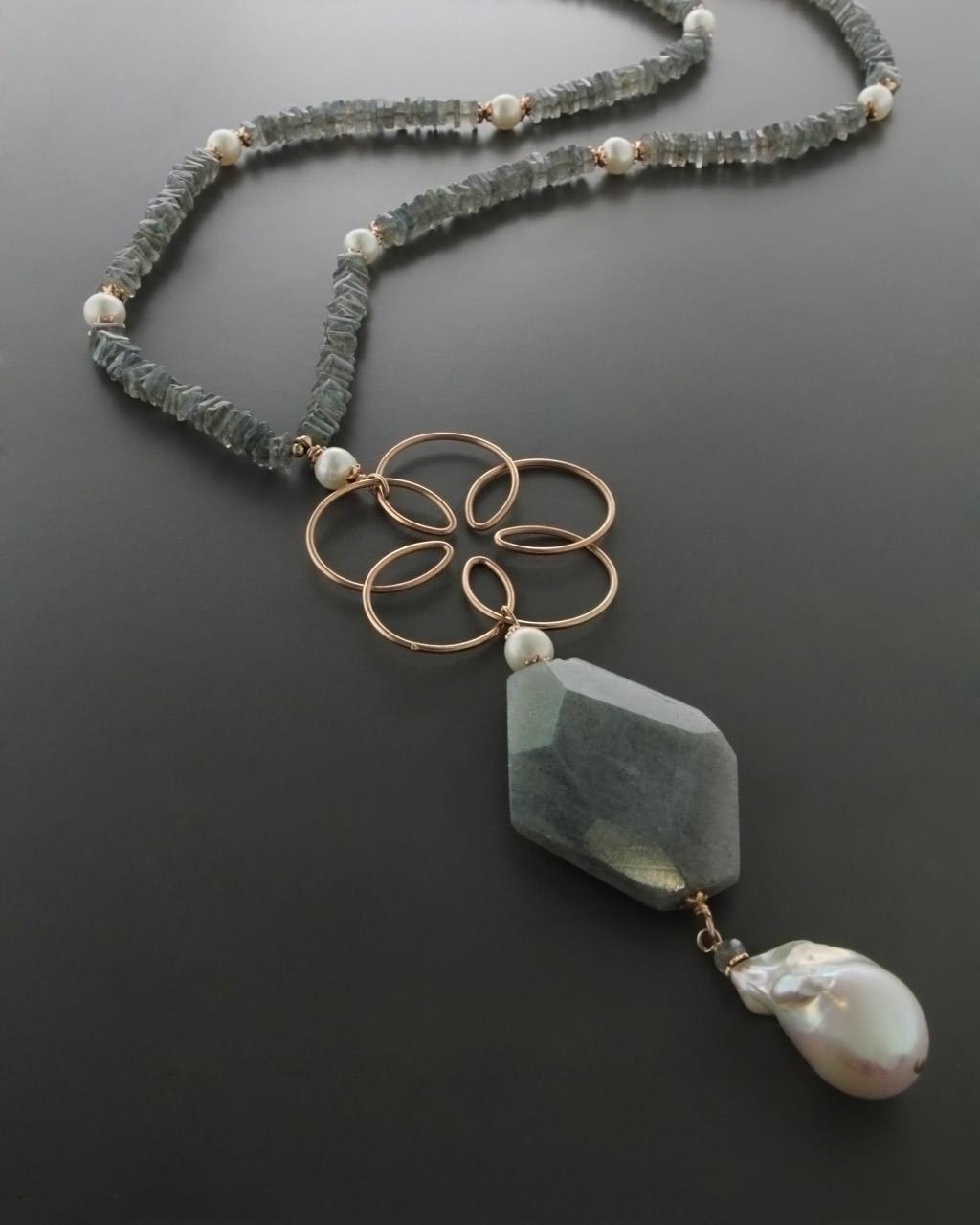 Κολιέ με Ορυκτές πέτρες & Μαργαριτάρια από ασήμι   γυναικα κρεμαστά κολιέ κρεμαστά κολιέ ημιπολύτιμοι λίθοι
