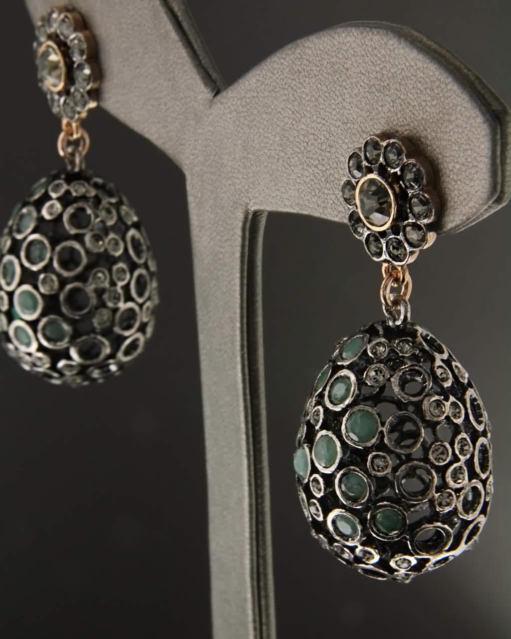Σκουλαρίκια ασημένια 925 με Αβεντουρίνη & Ζιργκόν   γυναικα σκουλαρίκια σκουλαρίκια ημιπολύτιμοι λίθοι