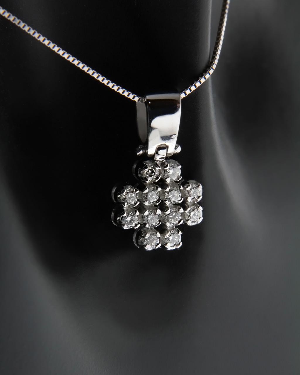 Σταυρός λευκόχρυσος Κ18 με Διαμάντια   γαμοσ νυφικό κόσμημα