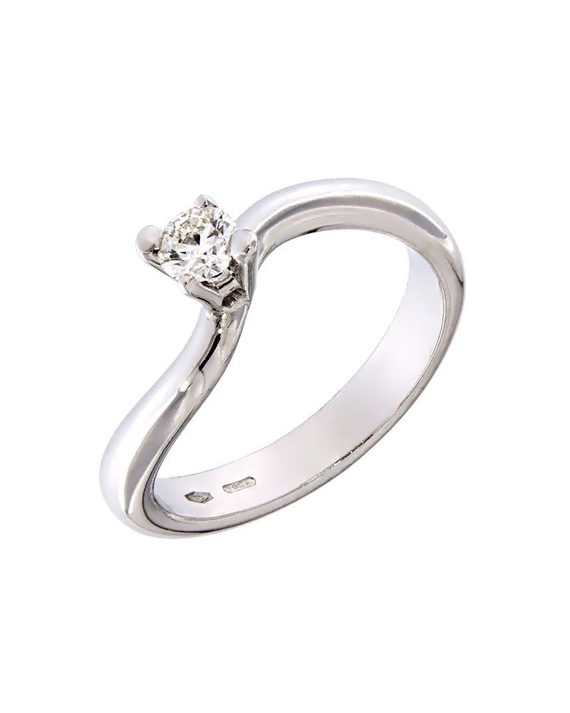 Μονόπετρο λευκόχρυσο Κ18 με Διαμάντι   γυναικα δαχτυλίδια μονόπετρα με διαμάντια