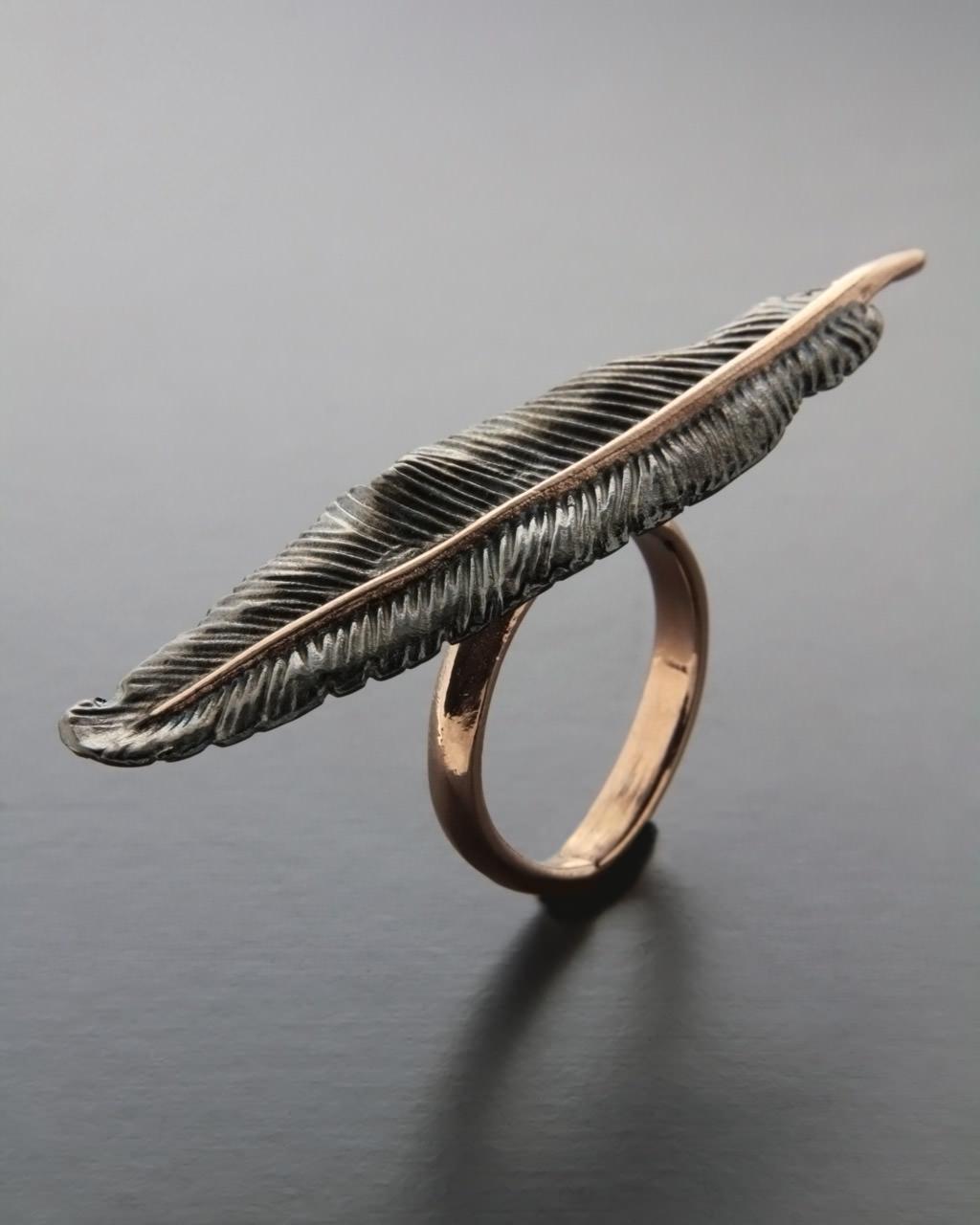 Δαχτυλίδι φτερό ασημένιο 925   γυναικα δαχτυλίδια δαχτυλίδια ασημένια