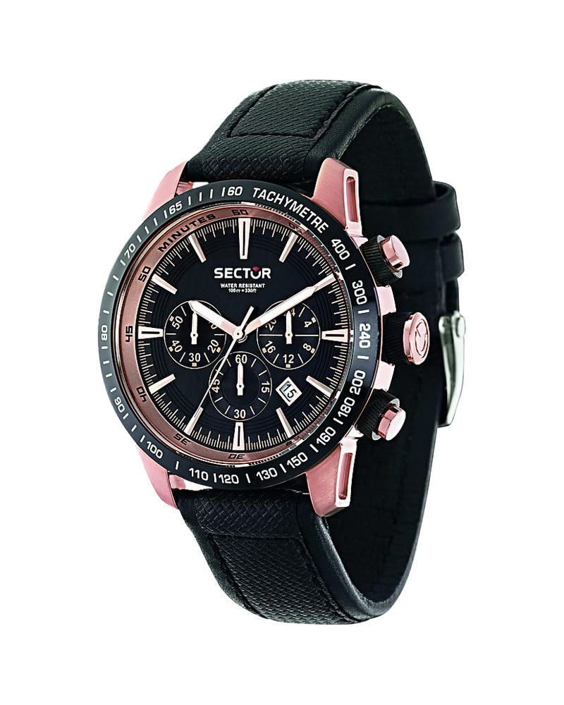 Ρολόι SECTOR Black Leather Strap R3271975001   brands sector