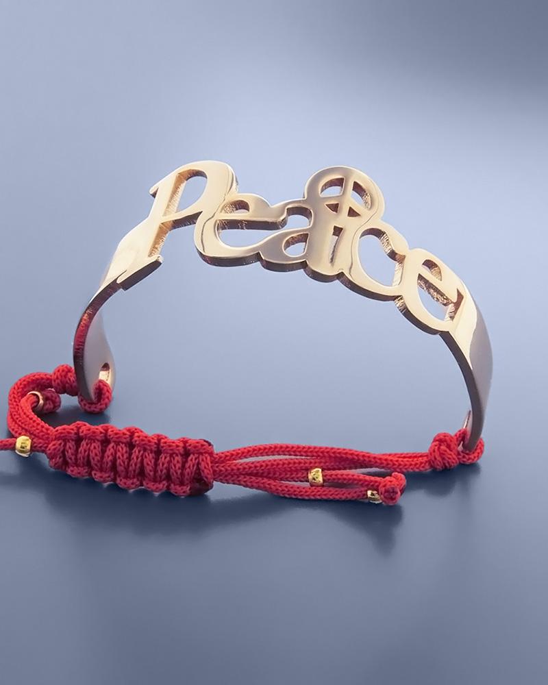 Βραχιόλι μακραμέ Peace   γυναικα βραχιόλια βραχιόλια δέρμα καουτσούκ