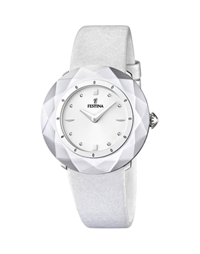 Ρολόι Festina White Leather Strap F16620/1
