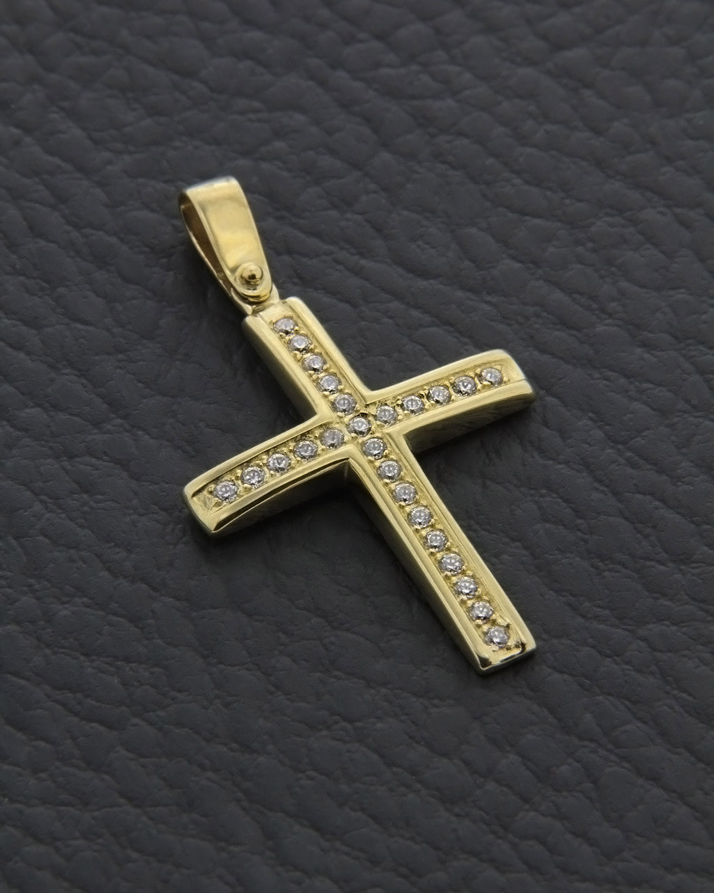 Σταυρός χρυσός Κ9 με Ζιργκόν   κοσμηματα σταυροί σταυροί χρυσοί