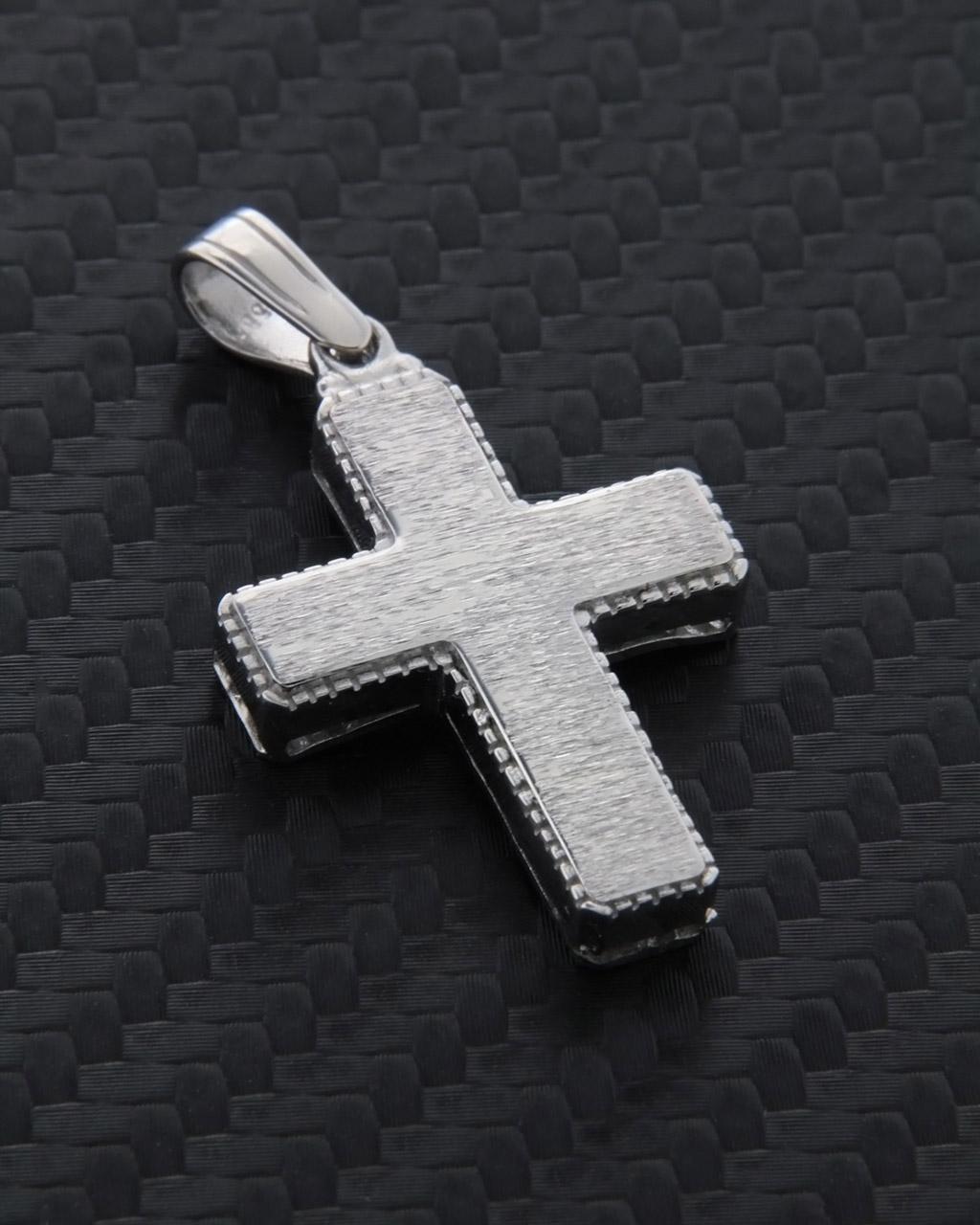 Σταυρός λευκόχρυσος Κ14 δύο όψεων   ανδρασ σταυροί ανδρικοί